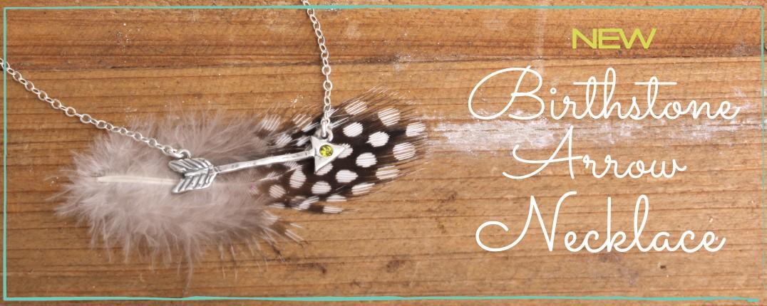 NEW Birthstone Arrow Necklace