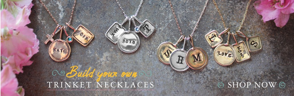Charm necklaces in gold silver and rose gold