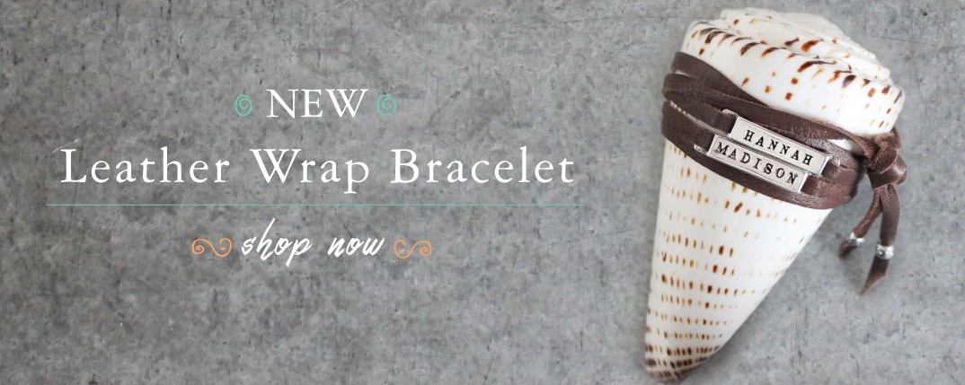 New Leather Name Wrap Bracelet