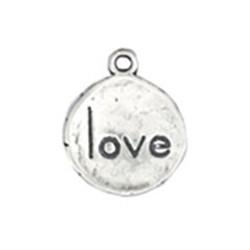 Silver Love Pea charm