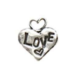 Silver Love Hearts charm