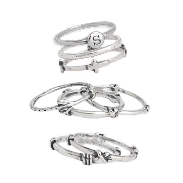 sterling silver stacking ring at Nelle & Lizzy www.nelleandlizzy.com