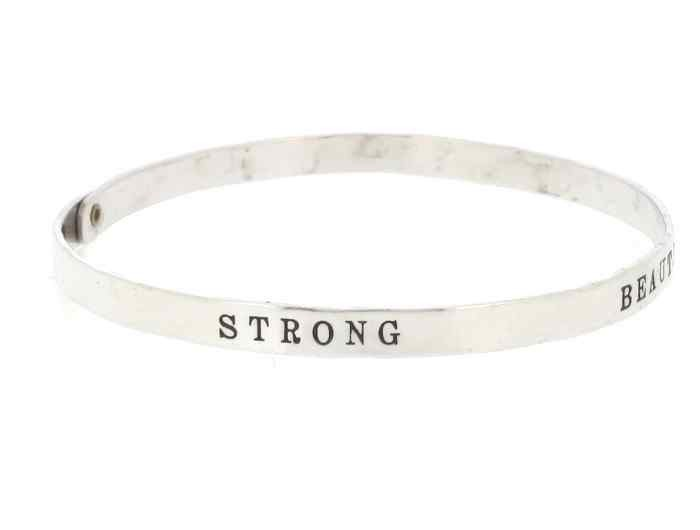 Sterling Silver Empowerment Bracelet Bangle