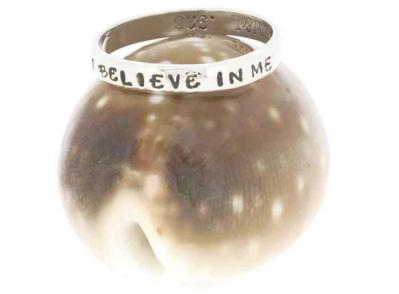 Empowered I Believe In Me Sterling Silver Ring