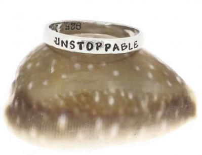 Empowered, Unstoppable Sterling Silver Ring