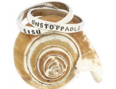 Empowered, Unstoppable-Sisu Double Sterling Silver Ring