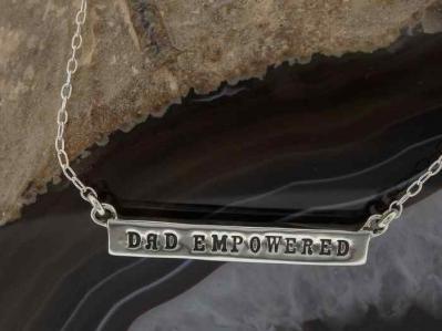 Empowered - Dad Empowered Silver Bar Necklace