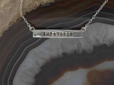Empowered, Empowered Silver Bar Necklace