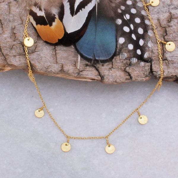 gold choker coin necklace