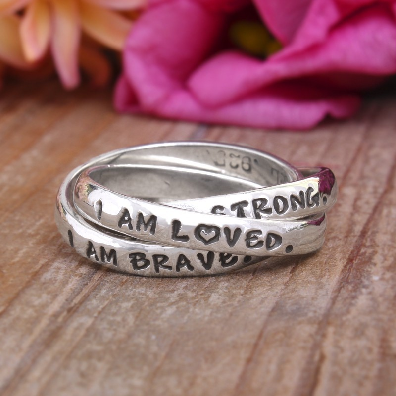 custom ring stamped and personalized