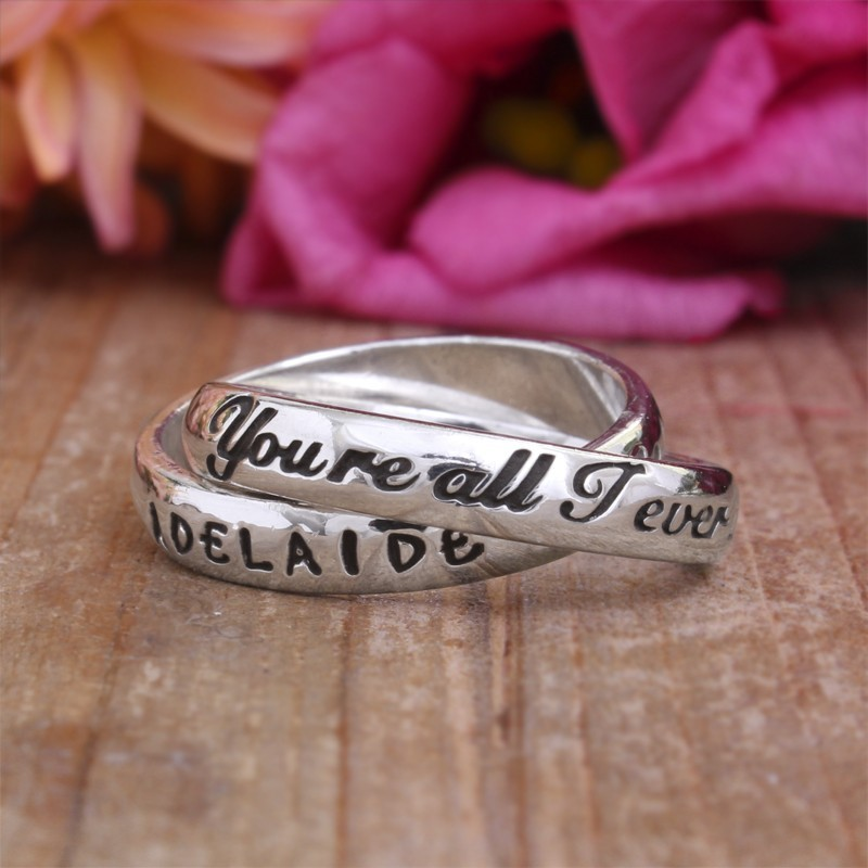 Ring for Mom with names - You're all I ever wanted