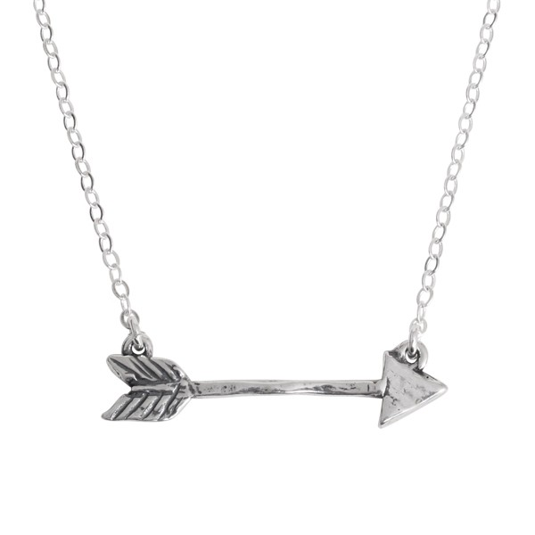 Arrow Necklace in silver by Nelle and Lizzy