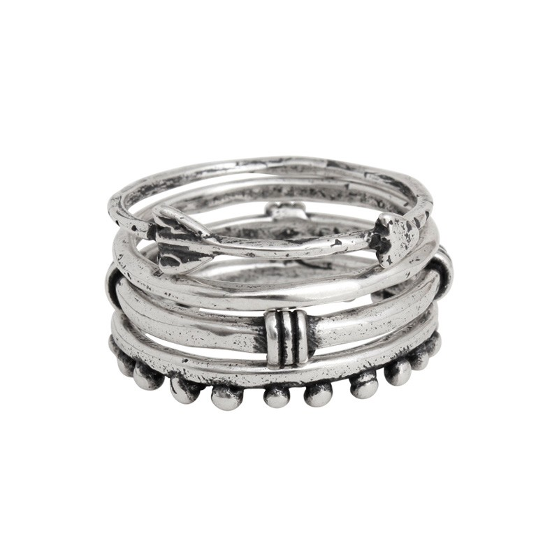 sterling silver stackable rings with arrow ring