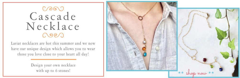 lariat necklace in gold by nelle and lizzy