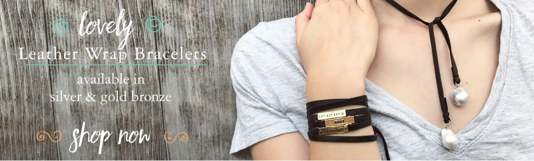 leather wrap bracelets personalized