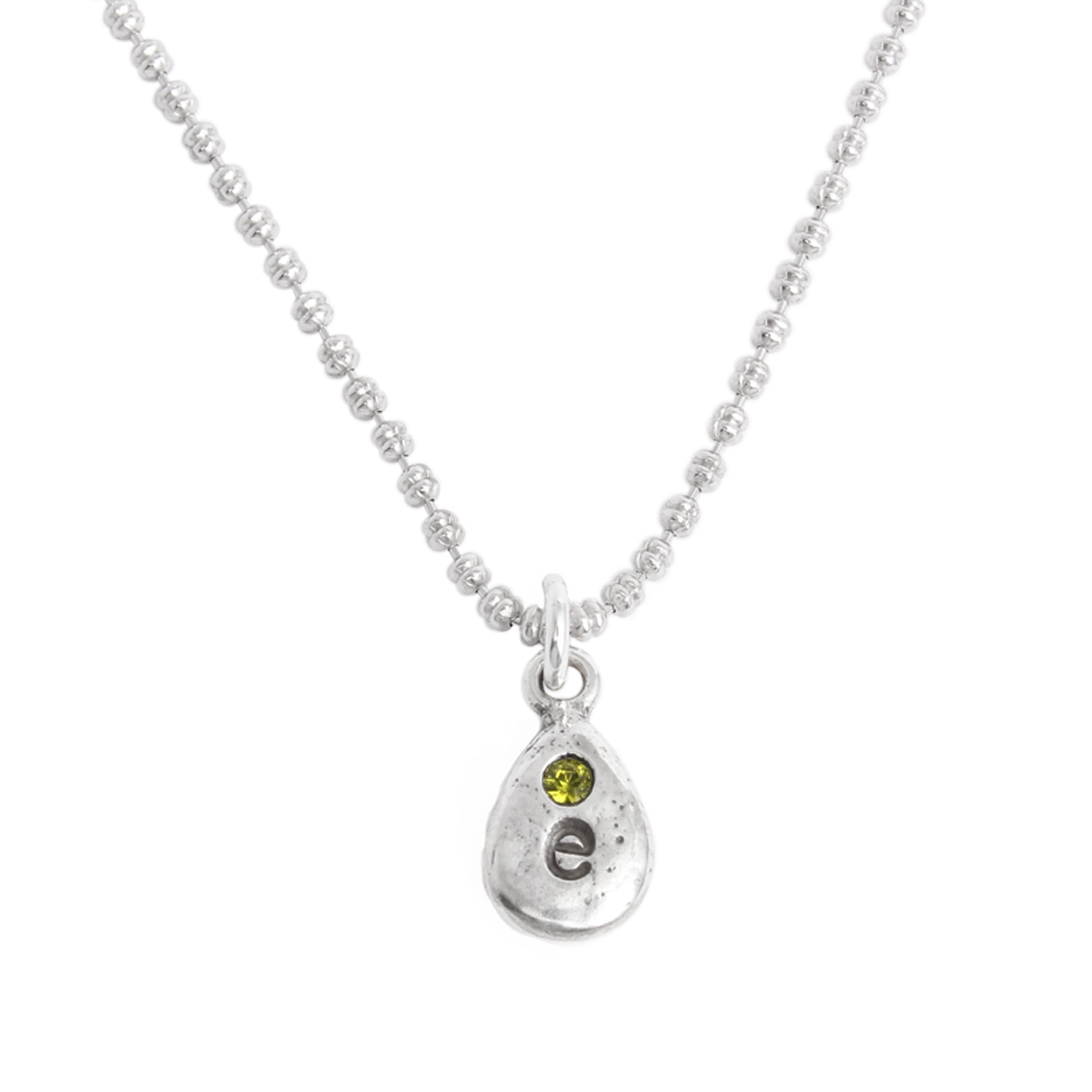 Initial and Birthstone charm necklace for mom
