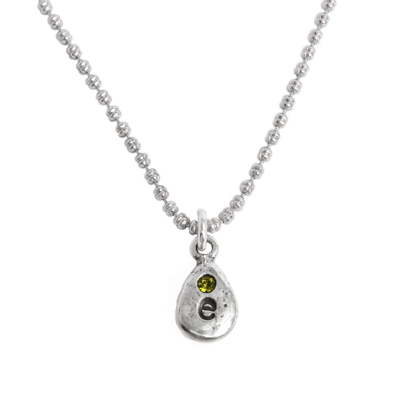 grandmother's charm necklace stamped initial and birthstone