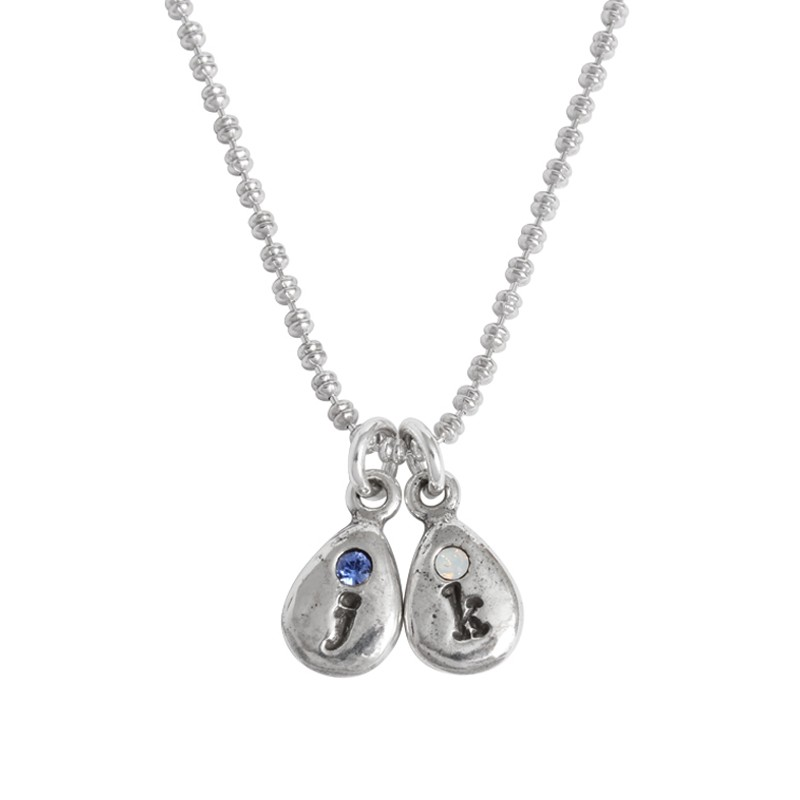 Gifts for grandma birthstone droplet necklace