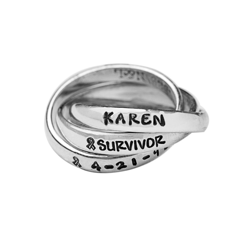 Breast cancer ring, survivor ring