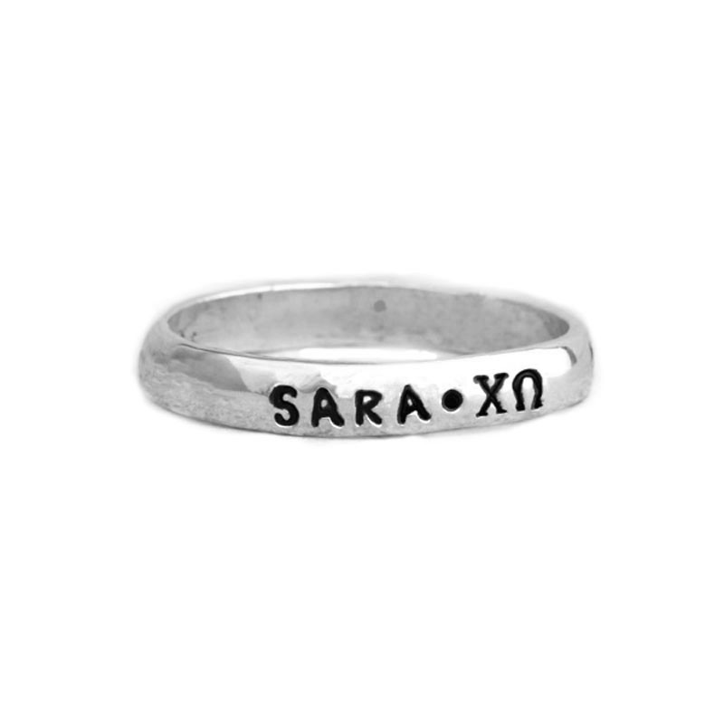 chi omega sorority girls ring personalized with date