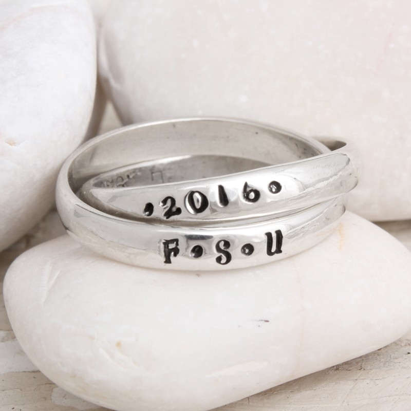 name class of graduation band ring