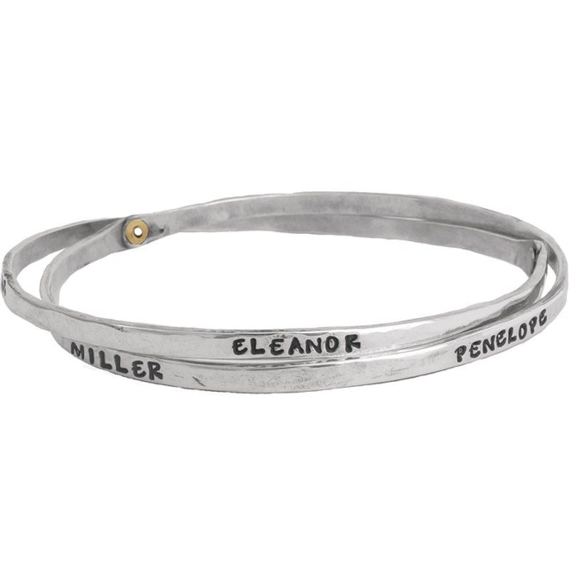 Bangle for mom with names - Double