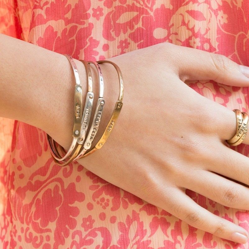 Gold and Silver Bangle Bracelets