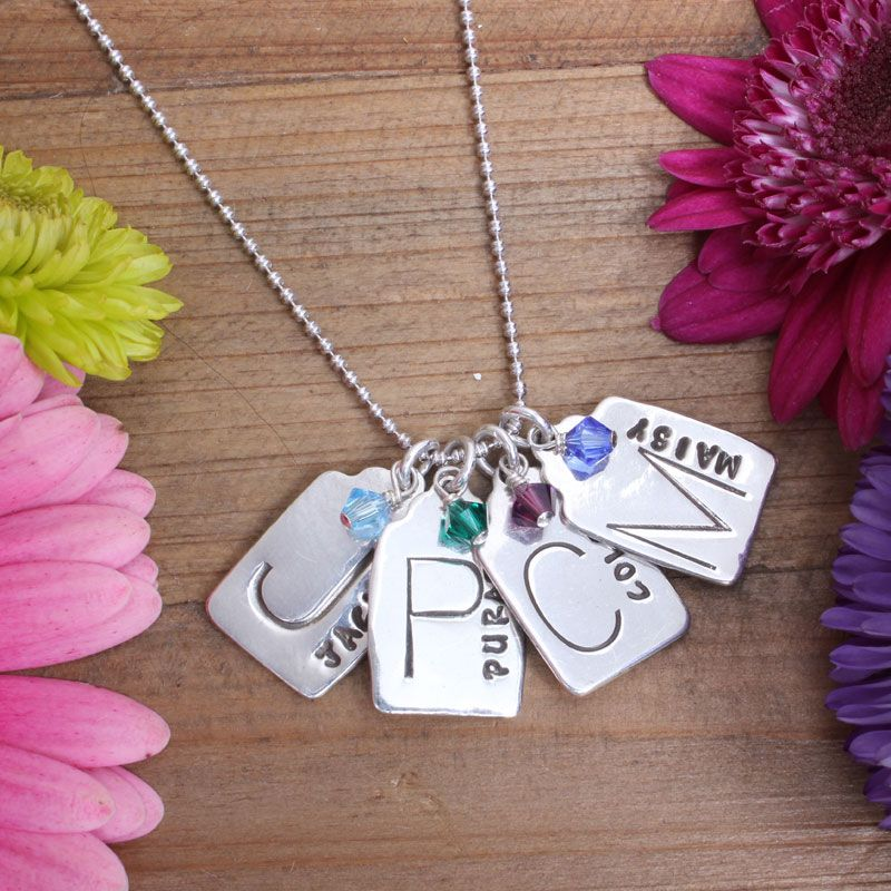 Mother of Four Charm Necklace