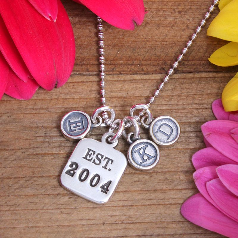 Personalized Family Charm Necklace