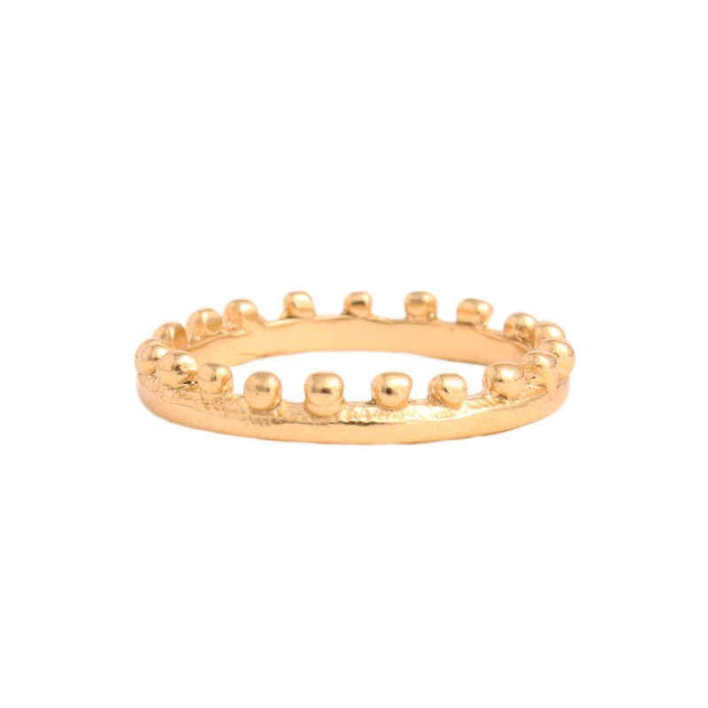 gold stack ring, coronation ring