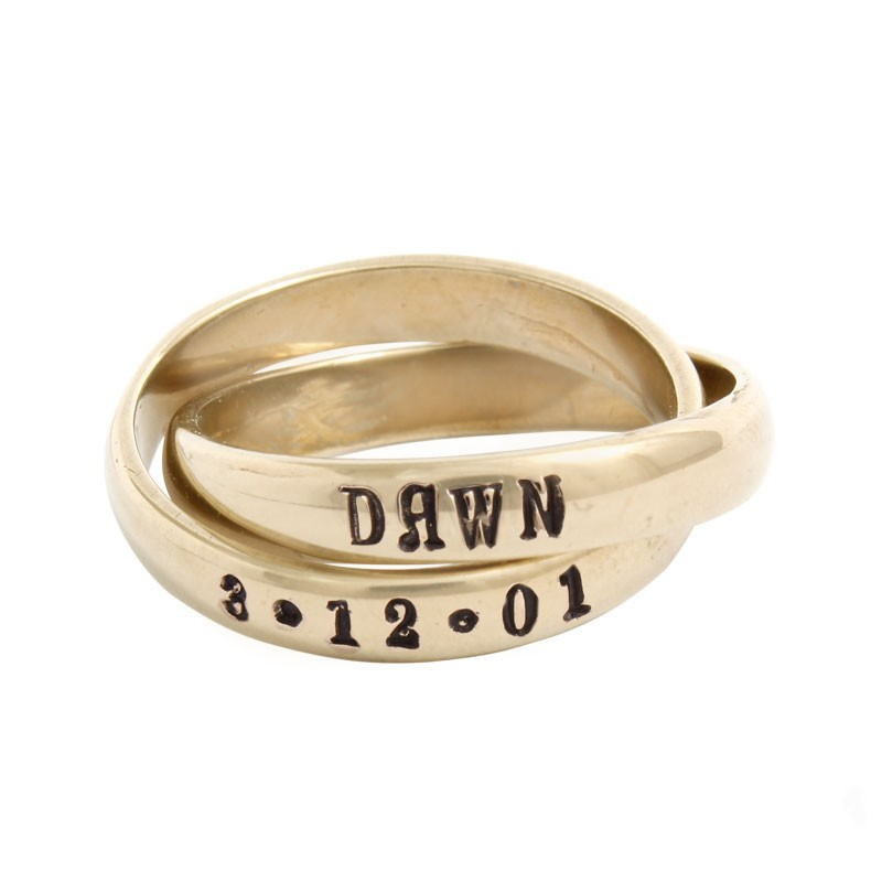 Personalized Grandmother's Ring Gold