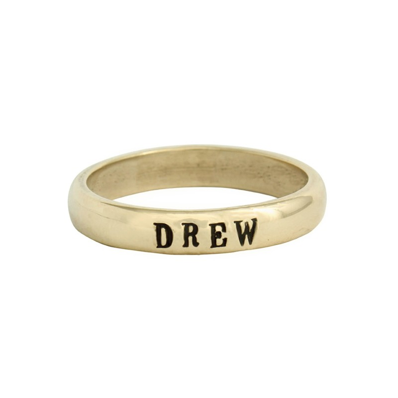 Personalized Gold Grandmothers Ring on Model