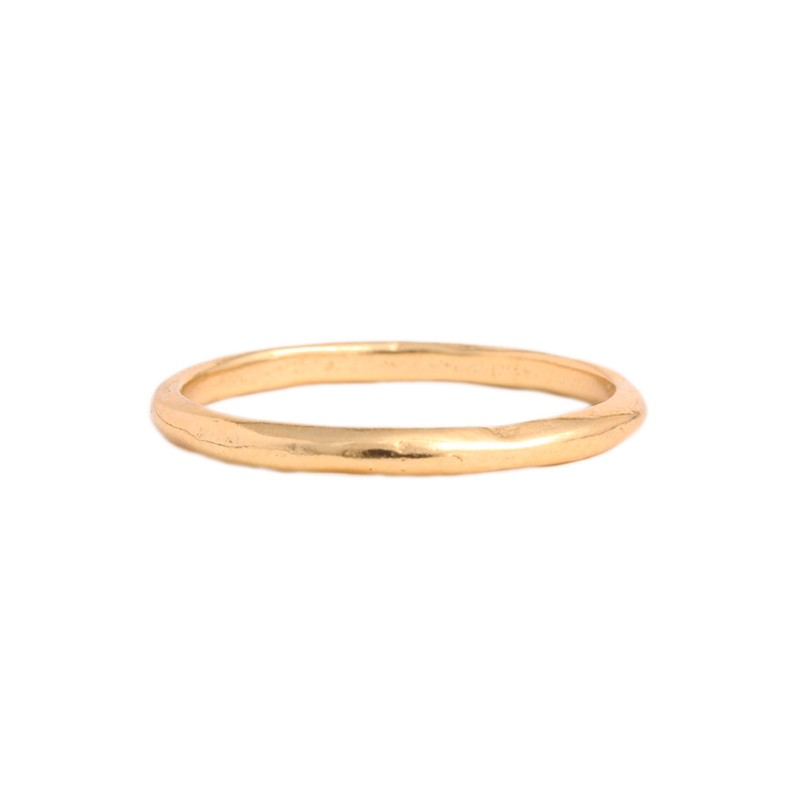 gold band dainty stack ring