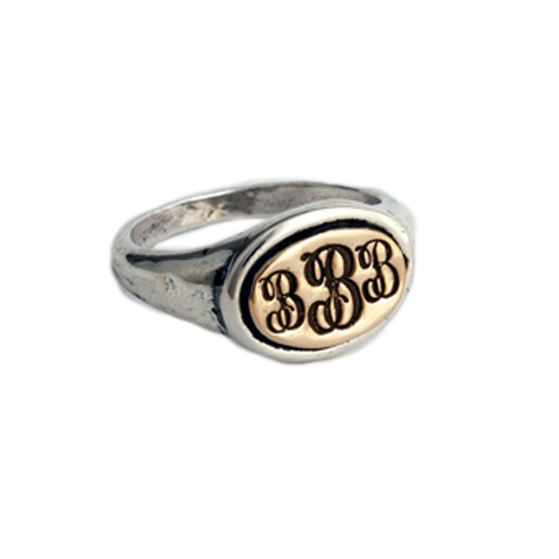 Customized Class Ring in Sterling Silver