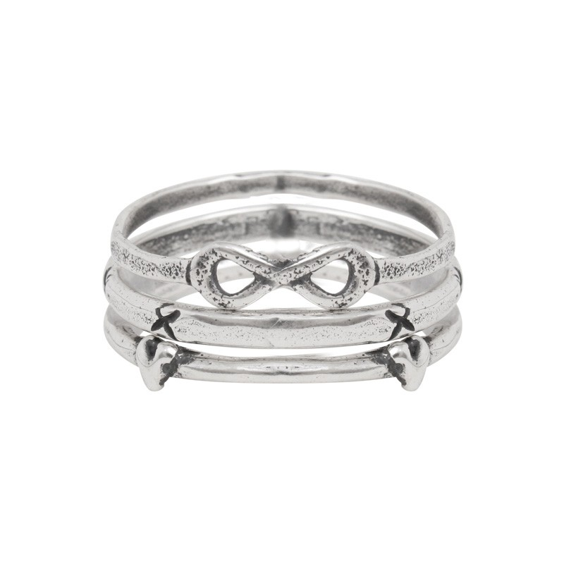 sterling silver stackable rings infinity