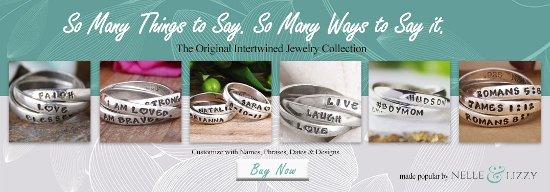 Hand Stamped Intertwined Rings | Nelle & Lizzy