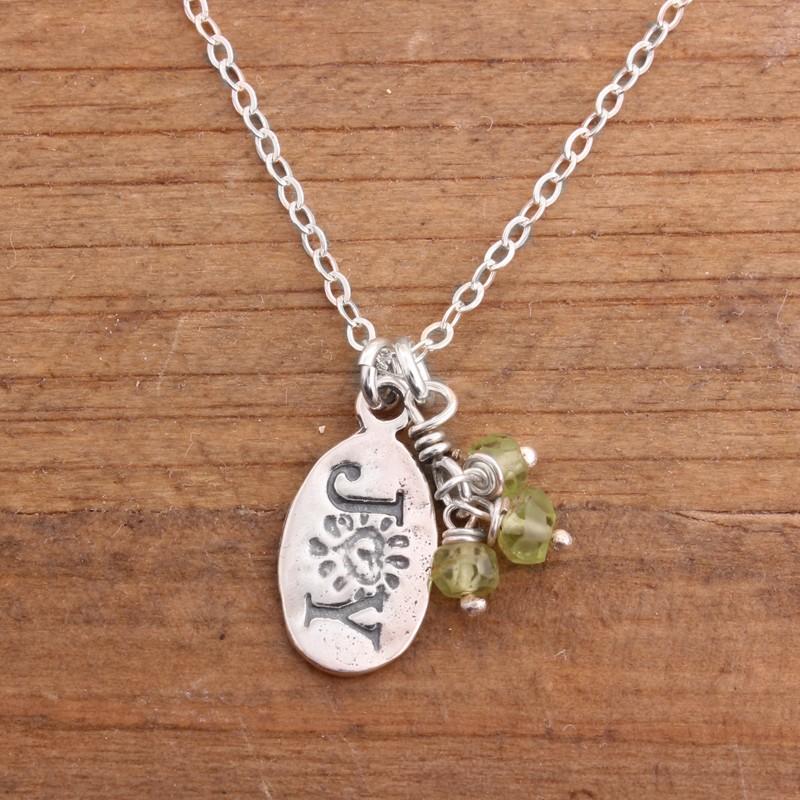 joy sterling silver necklace