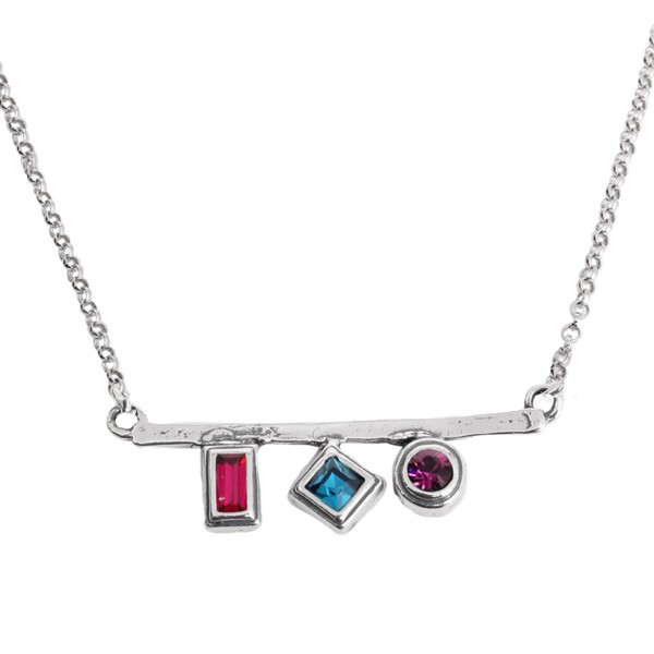 Personalized birthstone necklace for mom of three children.