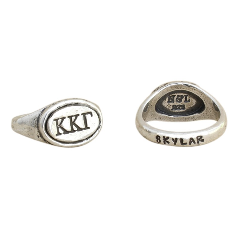 Kappa Kappa Gamma Sorority Ring, Personzalized with Greek Letters
