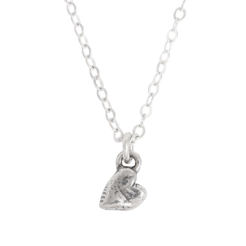 mother of one simple heart charm necklace