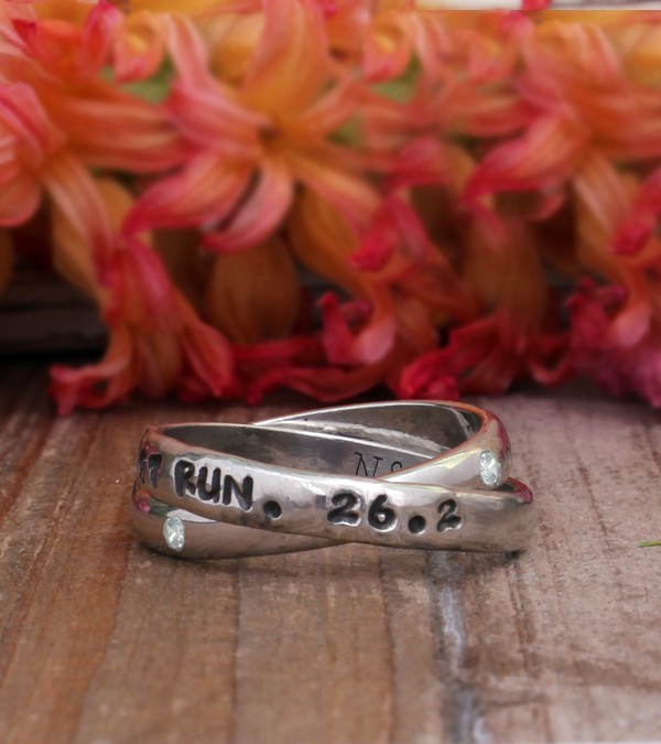 Marathon ring or race ring personalized