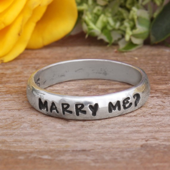 custom proposal band ring