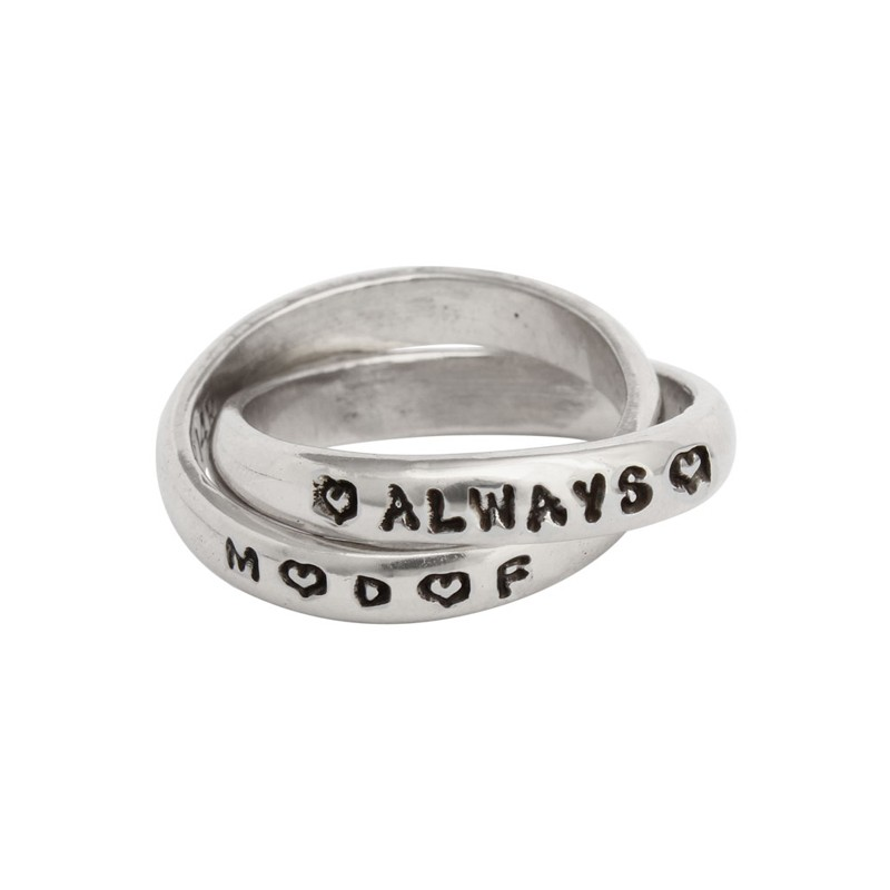 mother daughter friend name ring