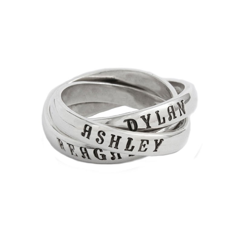 Mother of One Family Ring With Name and Date