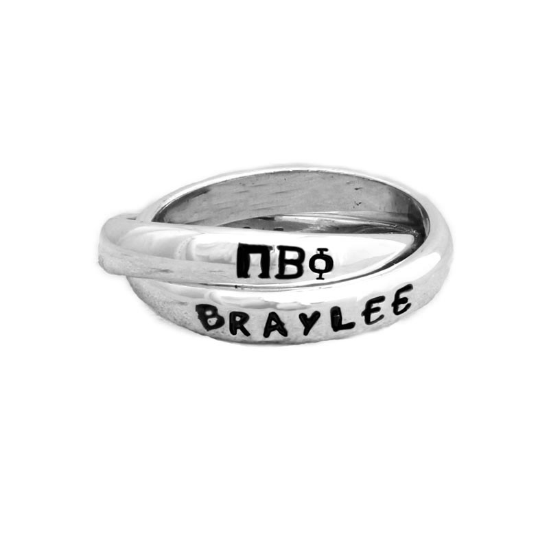pi beta phi sorority silver ring