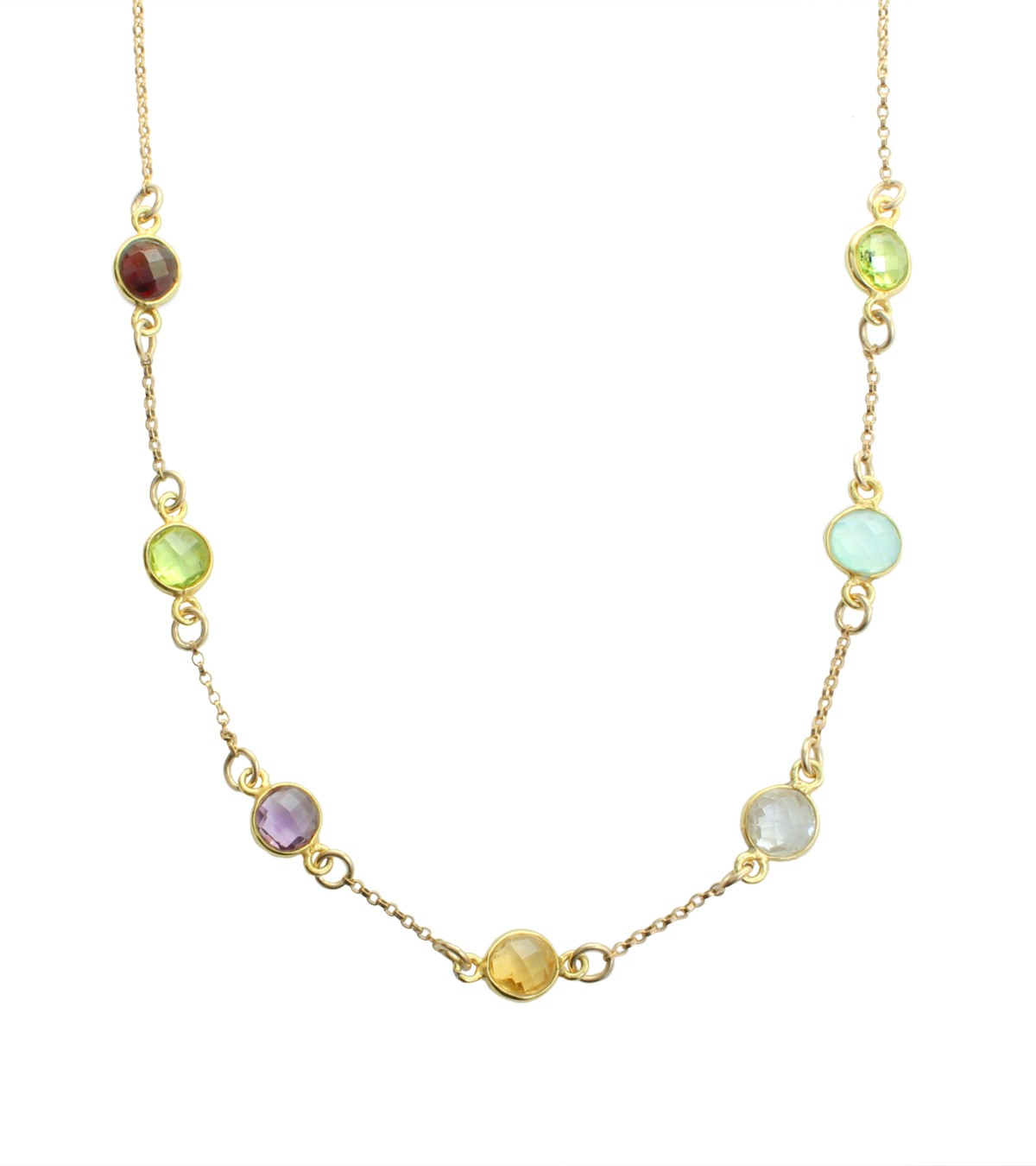 Mothers necklace with birthstones Pride and Joy