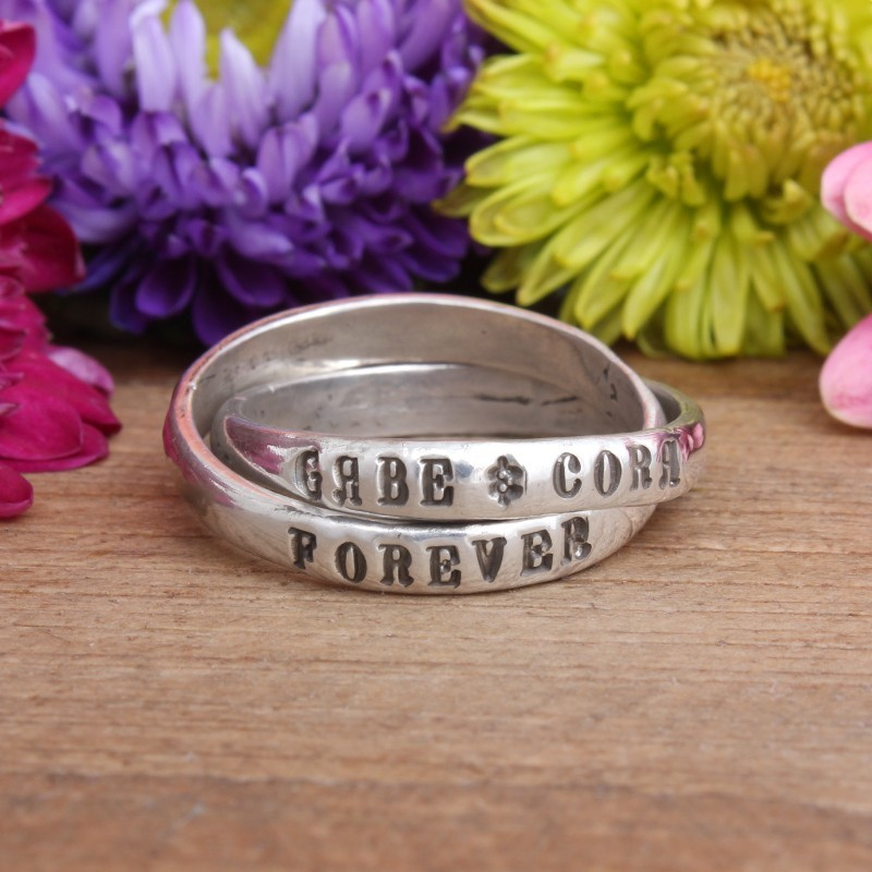 promise forever couple ring with names