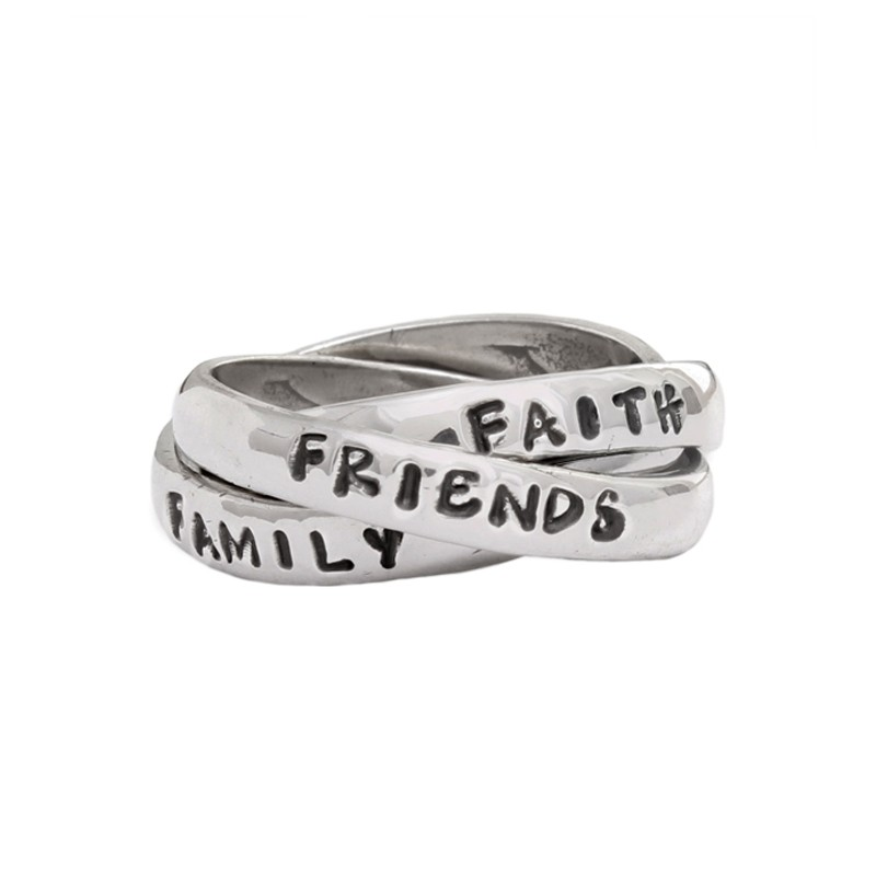 christian strength ring personalized