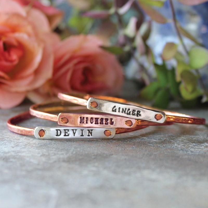 Rose gold personalized bracelet
