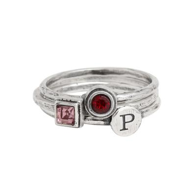 SALE ~ Buy 2 Birthstone Rings, get a Free Initial Ring!